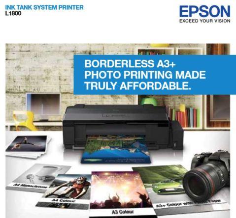 Harga Printer Epson A3 L1800 & L1300